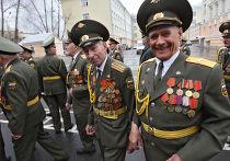Ветераны ВОВ на репетиции Парада Победы