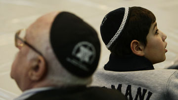 Участники еврейского праздника Пурим