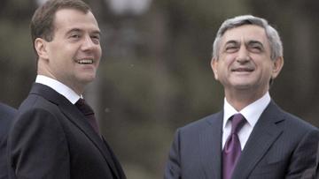 президент России Дмитрий Медведев президент Армении Серж Саргсян