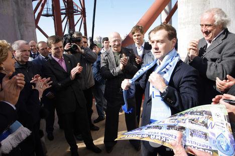 Сергей Мигицко и Президент РФ Дмитрий Медведев