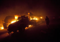 Нападение на колонну бензовозов НАТО