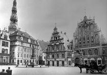Площадь в Риге. Довоенная Латвия