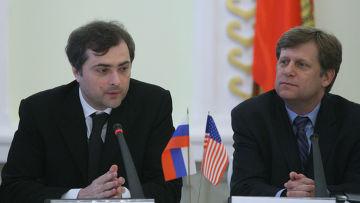 Владислав Сурков, Майкл Макфол
