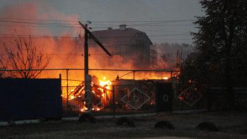 Пожар в селе Масловка