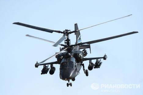 """Ка-50  """"Черная акула """" - российский боевой одноместный ударный вертолёт..."""