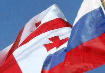 Флаги России и Грузии