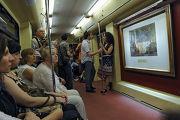 """Церемония пуска поезда """"Акварель"""" с новой экспозицией"""