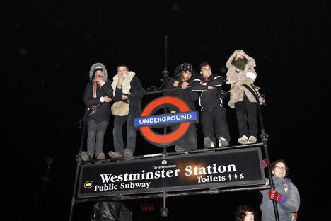 студенческая демонстрация в лондоне