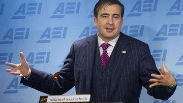 Президент Грузии Михаил Саакашвили в ходе своего неофициального визита в США выступил с речью в Вашингтоне, в Американском институте предпринимательства (American Enterprise Institute)