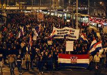 10 тысяч хорватов вышли на улицы Загреба с требованием отставки правительства