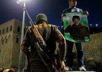 Сторонники Муаммар Каддафи в Триполи