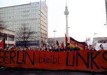 Манифестация на улицах Берлина