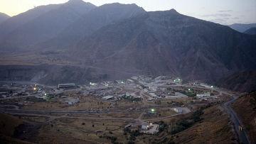 Строительная площадка Рогунской ГЭС