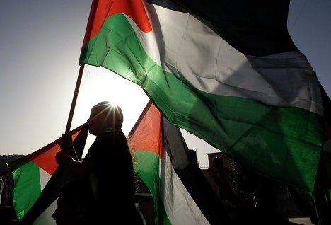 Митинг палестинцев