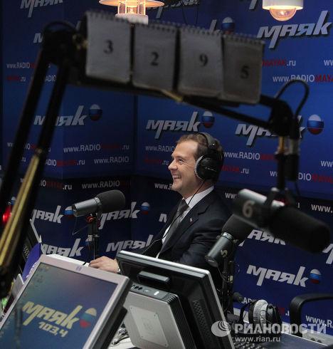 Д.Медведев побывал в штаб-квартире ВГТРК