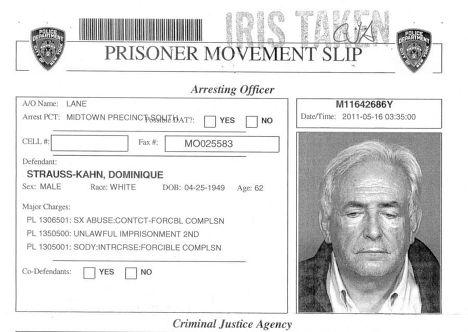 Глава МВФ Доминик Стросс-Кан арестован в Нью-Йорке по подозрению в сексуальных домогательствах