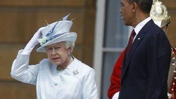 Барак Обама и королева Елизавета II
