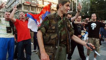 Митинг в поддержку Ратко Младича в Белграде