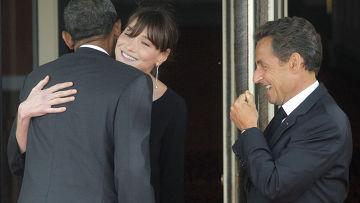 Николя Саркози, Карла Бруни, Барак Обама
