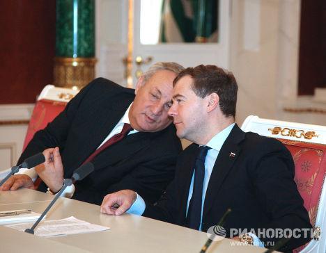 Д.Медведев и С.Багапш