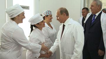 Рабочий визит премьер-министра РФ В.Путина в Республику Абхазия