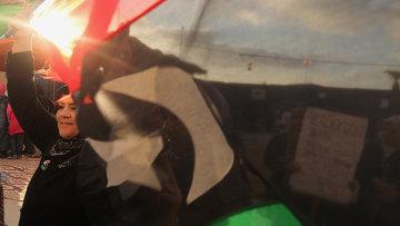 Митинг против Муамара Каддафи