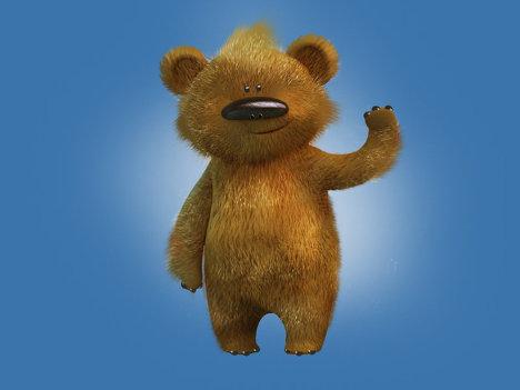 Талисманы Олимпиады-2014 - Бурый медведь