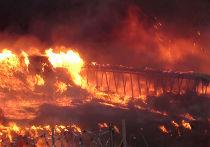 Пожар на территории Микояновского комбината в Москве
