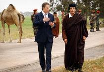 Тони Блэр и Каддафи, 2004 год