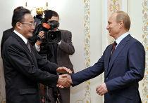 Встреча премьер-министра РФ В.Путина с У Банго в Ново-Огарево