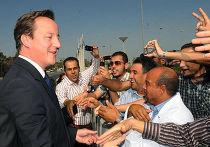 Николя Саркози и Дэвид Кэмерон в Триполи
