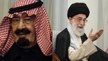 Король Саудовской Аравии и иранский аятолла Хаменеи