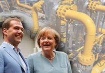 Медведев и Меркель
