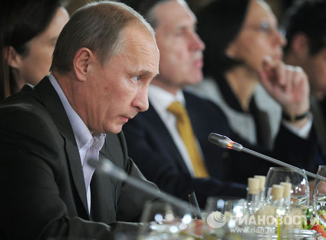"""В. Путин встретился с членами дискуссионного клуба """"Валдай"""""""