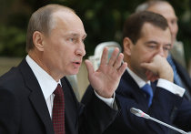 Встреча Д.Медведева и В.Путина с пенсионерами и ветеранами