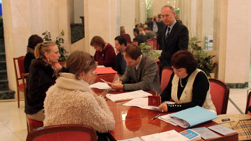 Избирательный участок  в посольстве РФ в Испании