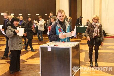 Голосование в посольстве РФ по Франции