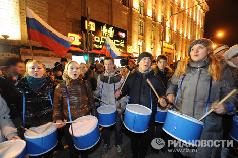 Митинг на Триумфальной площади в Москве
