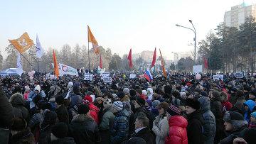"""Акция российских граждан """"За справедливые выборы"""" в Челябинске"""
