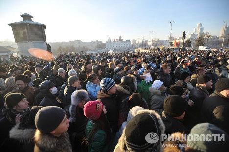 Массовые акции протеста в регионах России