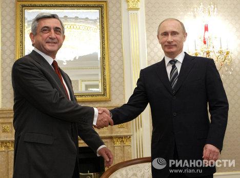 Встреча Владимира Путина с Сержем Саргсяном