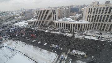 Митинг оппозиции на проспекте Сахарова 24 декабря