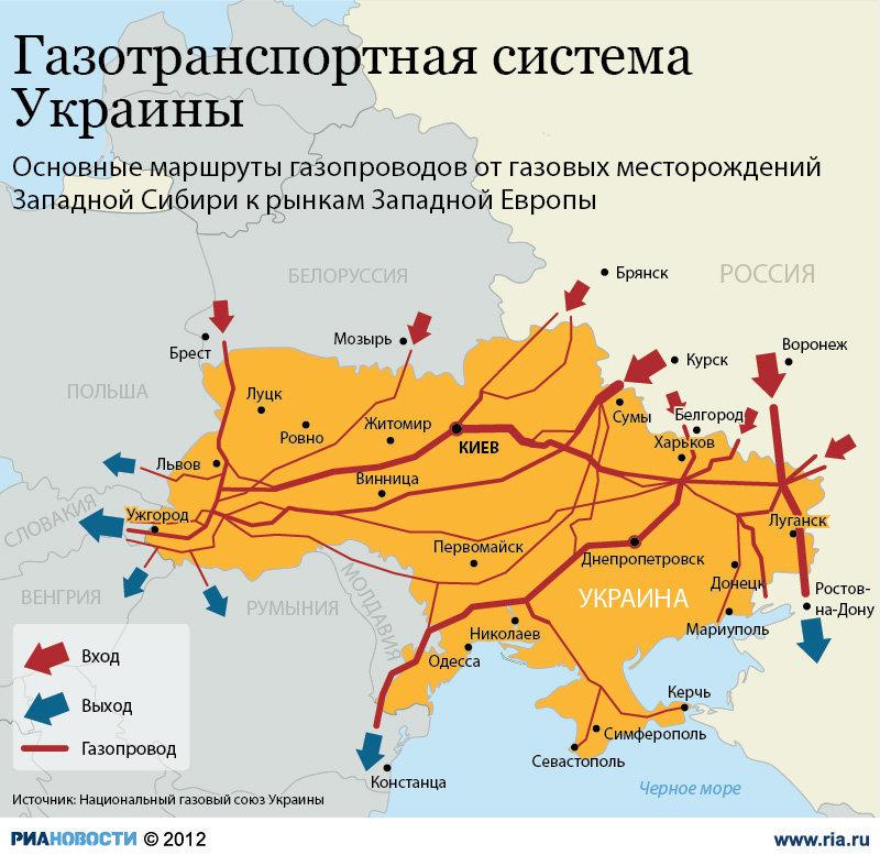 ...Украина может перевести свою ГТС в реверсный режим и включить ее в общую газотранспортную систему Европы, заявил.