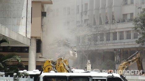 На месте обрушения домов в Рио-де-Жанейро