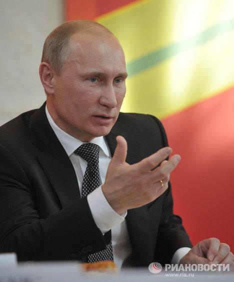 Премьер-министр РФ В.Путин встретился с ветеранами ВОВ