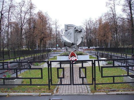 Памятник погибшим 20 октября 1982 года в Лужниках