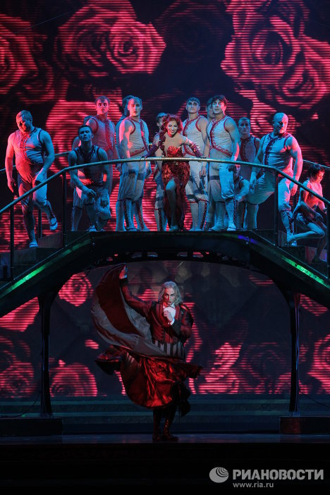 Фрагмент шоу Zarkana в Кремле
