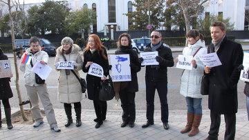 """Митинг """"За честные выборы в РФ"""" в Мадриде"""