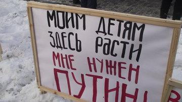 Митинг 4 февраля плакаты поклонная репортер