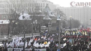 Митинг «За честные выборы» в Москве